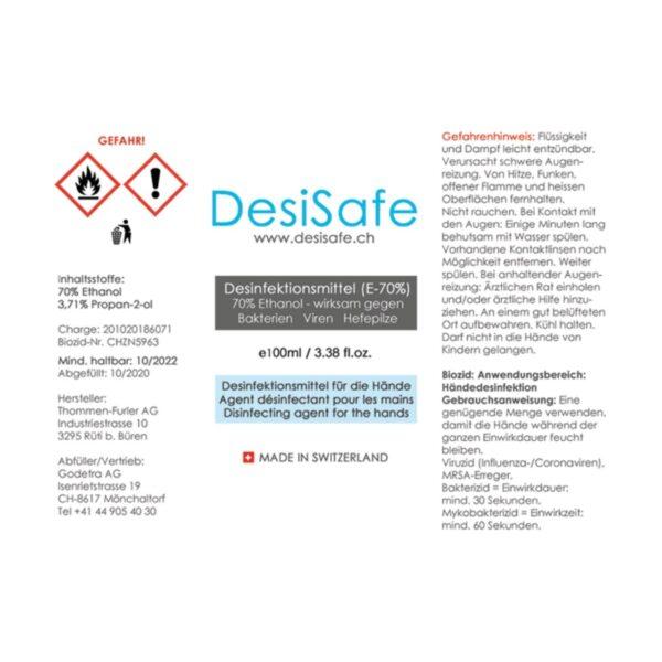 DesiSafe Etikett 100ml